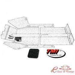 Kit de alfombra negra 61-67 con orificio calefactor (7 piezas)