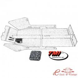 Kit de alfombra gris 61-67 con orificio calefactor (7 piezas)