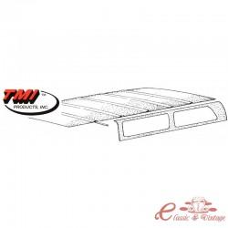 Revestimiento del techo para Notchback 61-74 (6 varillas)