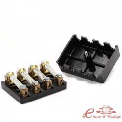 Caja de fusibles universal de 4 fusibles (tapa atornillada, suministrada con fusibles)