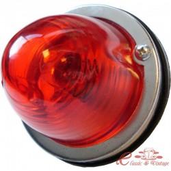 Cristal trasero redondo rojo diseñado para una bombilla de doble filamento (no homologado)