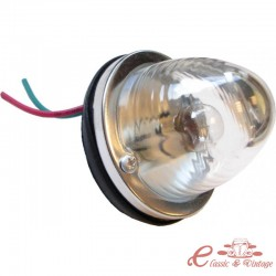 Cristal transparente de luz trasera redonda destinado a una bombilla monofilamento (no homologada)