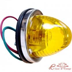 Cristal trasero redondo naranja diseñado para una bombilla de un solo filamento (no homologado)