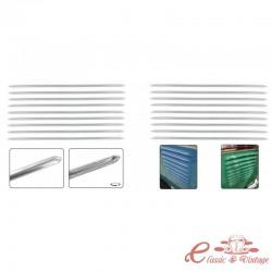 Kit de 18 rejillas de ventilación del motor cromadas 3/55-63
