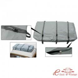 Bolsa de lona PVC gris con 3 correas para portaequipajes