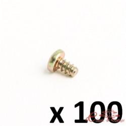 Juego de 100 tornillos autorroscantes cabeza redondeada 3,9x6,5 para clips de fijación ref 08558