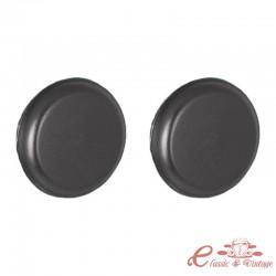 Conjunto de 2 botones de control negros estilo Blaupunkt para radio de coche Retrosound