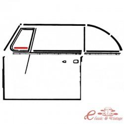 Set de 2 juntas inferiores de deflector izquierda o derecha cabriolet 65-79