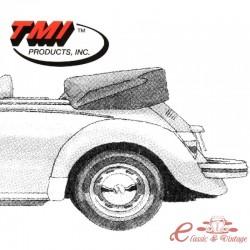 couvre capote alpaga noir cabriolet 70-71