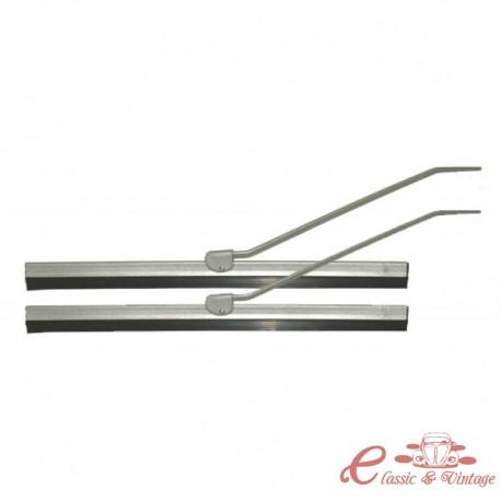 Juego de 2 brazos limpiaparabrisas y escobillas grises 8/57-7/64 (245mm)