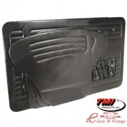 Juego de 4 paneles de puerta negros con compartimento de almacenamiento 56-64 TMI