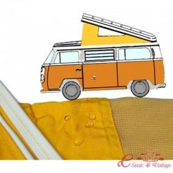 Lona de Westfalia 74-79 con 3 ventanas AMARILLAS calidad superior