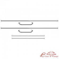 Kit de molduras de puerta cromados para escarabajo Cabriolet 58-59