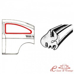 Vedação da janela do lado esquerdo ou direito (sem saliência) FASTBACK (fornecido para moldagem)