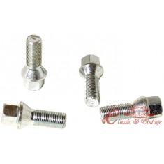 Tornillo de rueda cromado conico (14x1,5) largo 27mm cabeza 17mm
