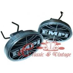Set de 2 tapas de aluminio para agujero de gato y logo EMPI
