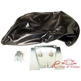 kit de montaje rueda cubierta en negro