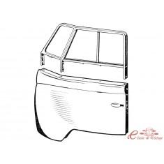 Set de dos barras de separación de vidrios de puerta delantera