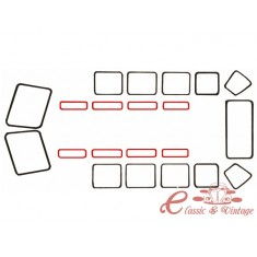 Junta de vidrio de techo T2 55-67 21 o 23 ventanas
