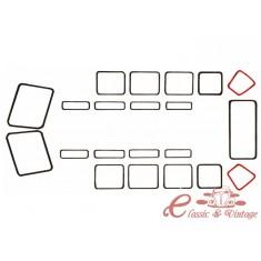 Juntas (2) de vidrio de angulo T2 23 ventanas 51-63