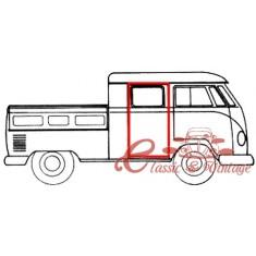 Junta de puerta trasera lateral pick up doble cabina T2 58-67