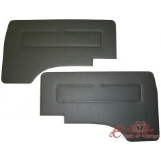 Set de 2 paneles de puerta delantera en vinilo negro