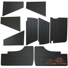 Set de 9 paneles delanteros y traseros en vinilo negro
