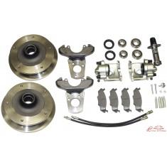kit frenos de discos delanteros 5x205 para pivotes -7/65 completo con bomba de frenos y latiguillos