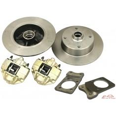 kit frenos de disco delanteros 1302-1303 con platinas y soporte de pinzas