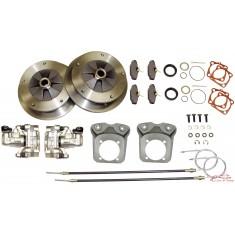 kit frenos de discos traseros 5x205 con platinas reforzadas para trompetas 68- y cardans 68-72