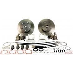kit frenos de discos traseros 5x130 con platinas reforzadas para trompetas 68- y cardans 68-72