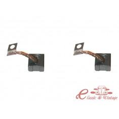 Set de 2 escobillas de dinamo 6 Volts (diametro 90mm)