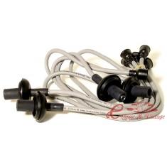 Cables de bujia de silicona gris