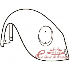 Aleta del der 8/74- (con agujero de paragolpes y sin agujero intermitencia )