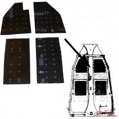 kit de 4 paneles de aislamiento de chasis