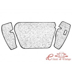 kit moqueta de maletero delantero en gris 1302/1303 -7/73
