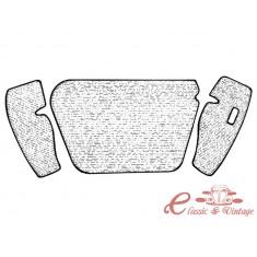 kit moqueta de maletero delantero en gris 1303 7/73-