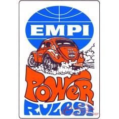 "Adhesivo ""EMPI POWER RULES"" 100x70mm"