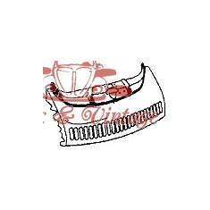 Faldilla delantera 1302-1303 con rejilla para radiador suplementario