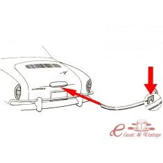 Clips (4) de moldura cromada de piloto de placa de matricula 56-74