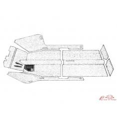 kit moqueta negra Type 3 61-72 con agujeros de calefacción (7pcs)