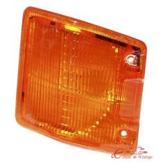 Plastico intermitente delantero izquierdo naranja