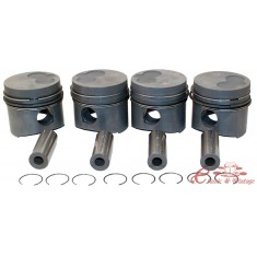 kit pistones ,segmentos y ejes standard, 76,51mm golf 8/80-7.90 1.6TD transporter 1/81-7/87 1.6TD