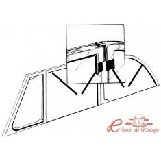 Set de 4 juntas de marco de vidrio cromado de cabriolet