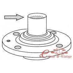 Cubo de rueda para disco 35mm 4/100 8/83-7/87 1.1-1.8
