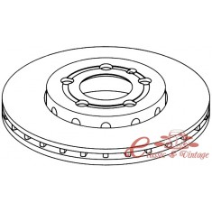 Disco de freno delantero ventilado 256x22mm 10/97-