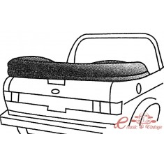 Cubre capota negro en vinilo 80-81