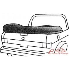 Cubre capota negra en vinilo 82-93