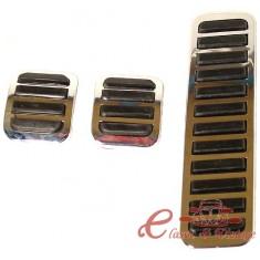 Set de 3 cubre pedales cromados