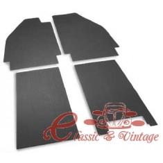 Set de 4 tapizados de caucho negro-53
